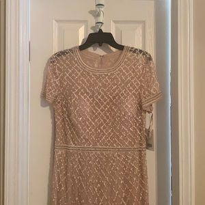 Adrianna Papell size 12 blush gown